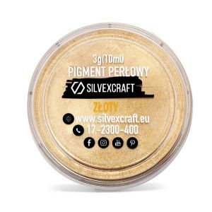 Pearlový pigment - zlatý, 3 g