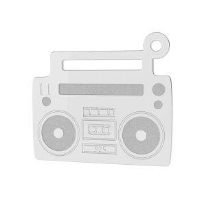 Magnetofon přívěsek stříbrný 925, LK-1430 - 0,50