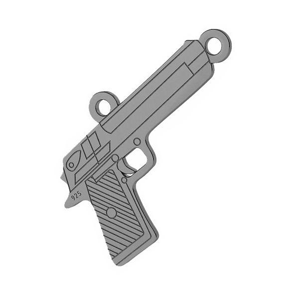 Pistole přívěsek stříbrný 925, LKM-2092 - 0,50