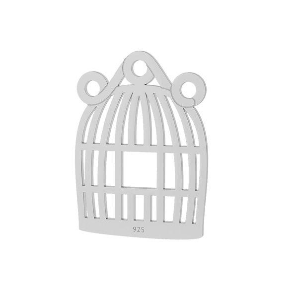 Ptačí klec přívěsek stříbrný 925, LKM-2094 - 0,50