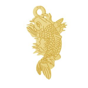 Ryby Koi přívěsek stříbrný 925, LKM-2100 - 0,50