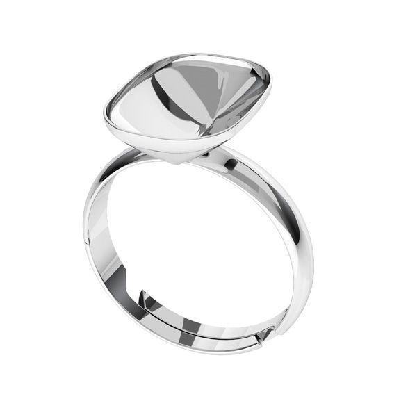 Stříbrný prsten Cushion Fancy Stone base, OKSV 4568 MM 14,0X 10,0 S-Ring Universal