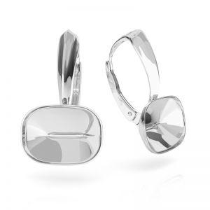 Stříbrné náušnice Cushion Fancy Stone base, OKSV 4568 MM 14,0X 10,0 BA 1 ver.2