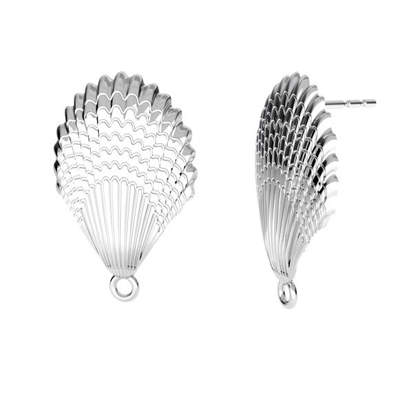 Skořápka náušnice, stříbro 925, ODL-00515 KLS