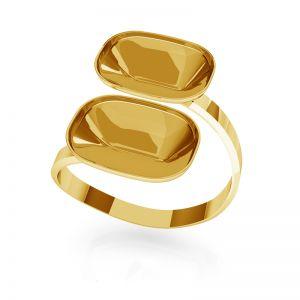 Stříbrný prsten Cushion Fancy Stone base, OKSV 4568 MM 14,0X 10,0 DOUBLE RING