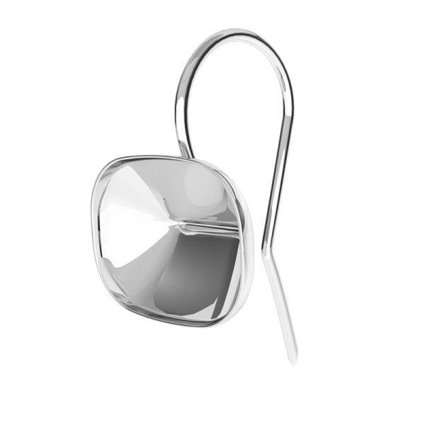 Stříbrné náušnice Cushion Fancy Stone base, OKSV 4568 MM 14,0X 10,0 BO ver.2