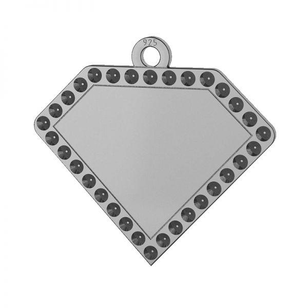 Diamant přívěšek stříbrný 925, LKM-2142 - 0,80 (1028 PP 4)