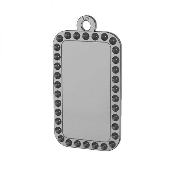 Obdélník přívěšek stříbrný 925, LKM-2140 - 0,80 (1028 PP 4)