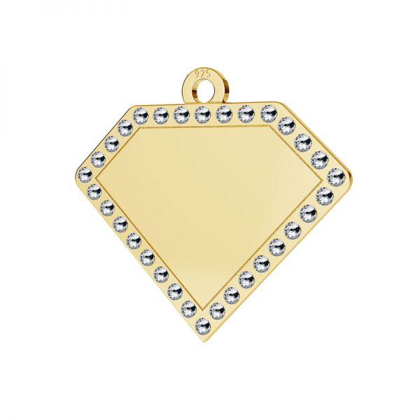 Diamant přívěšek stříbrný 925, LKM-2142 - 0,80 ver.2