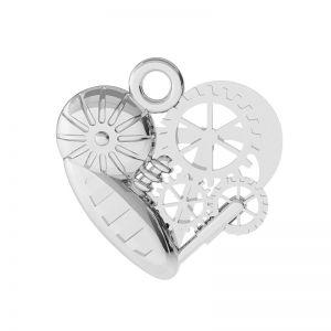 Mechanické srdce přívěšek stříbrný, ODL-00521