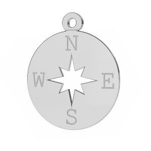 Kompas větrná růžice přívěsek stříbrný, LKM-2015
