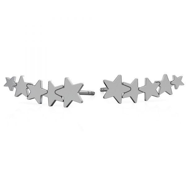 Hvezda náušnice, stříbrný 925, LKM-2177 KLS - 0,50