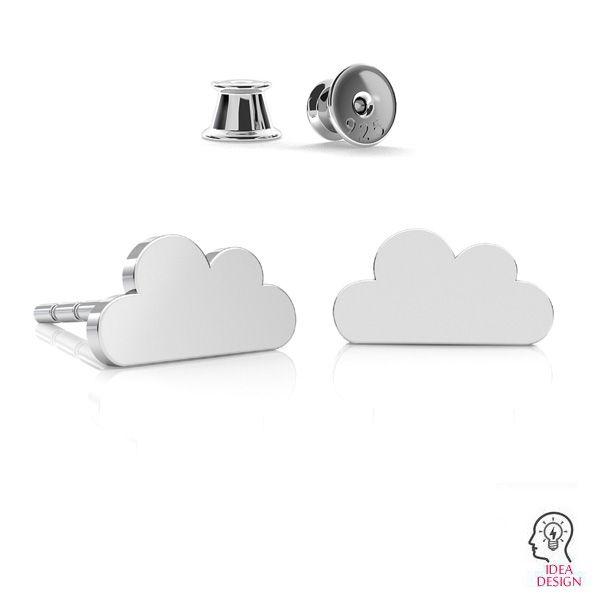 Mrak náušnice, stříbrný 925, LK-2241 KLS - 0,50