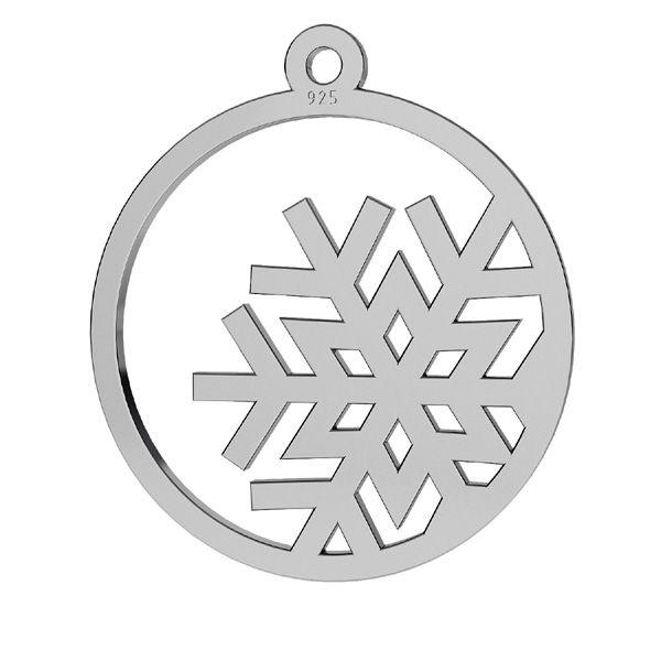 Sněhová vločka přívěšek stříbrný, LKM-2257 - 0,50