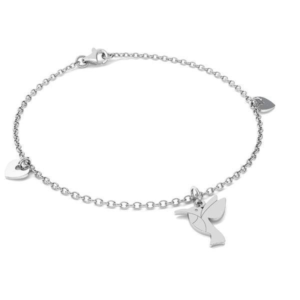 Kolibřík přívěšek stříbrný, LKM-2266 - 0,50