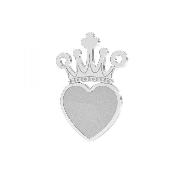 Koruna přívěšek stříbrný 925, LKM-2331 - 0,50