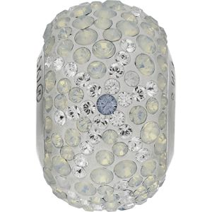 82063 BeCharmed Pavé Snowflake Bead - Crystal, Light Sapphire, White Opal
