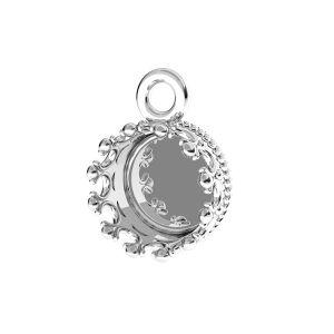 Kulatý přívěsek na pryskyřici, stříbrný 925, FMG ROUND 7 MM CON 1 - 2,10 MM