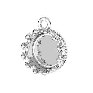 Koruna přívěsek na pryskyřici, stříbrný 925, ODL-00680 CON 1