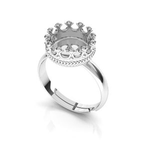 Kulaté prsten z pryskyřice, stříbrný 925, ODL-00681 U-RING