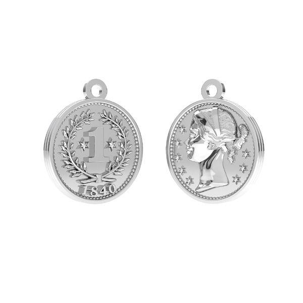 Cínská mince přívěšek, stříbro 925, ODL-00012