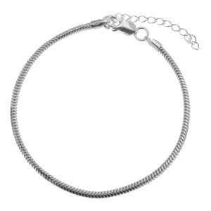 Náramekretízek  Snake*stříbro 925*HAND BASE CSTD 2,4 (18 + 4 cm)