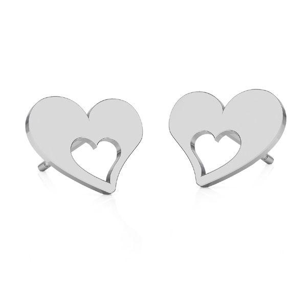 Srdce náušnice, stříbrný 925, KLS LKM-2357 - 0,50 8,4x8,4 mm