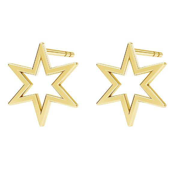 Hvězda náušnice, stříbrný 925, KLS LKM-2371 - 0,50 9,7x10,9 mm