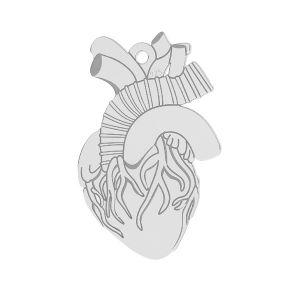Přívěsek - Srdce na gravírování *stříbro 925*LKM-2370 - 0,50 14x21,6 mm