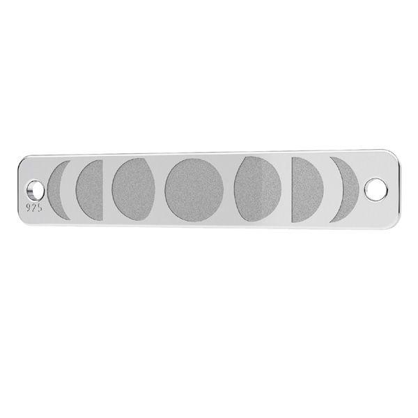Obdélníkový přívěšek stříbrný, LKM-2038 - 0,40