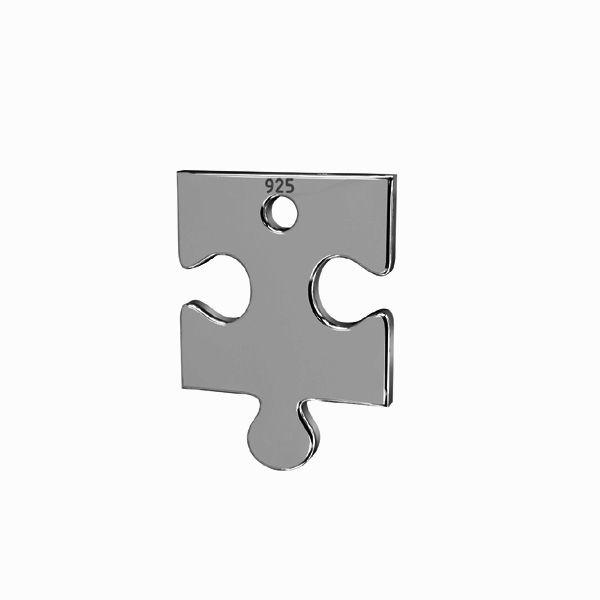 Puzzel přívěsek*stříbro 925*LKM-2420 - 0,50 14x24 mm