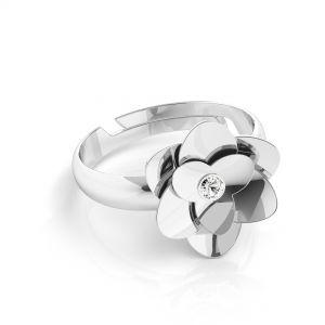 Ruze prsten*stříbrny 925*U-RING ODL-00041