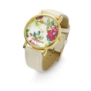 CREAM FLOWER WATCH, MODEL 464