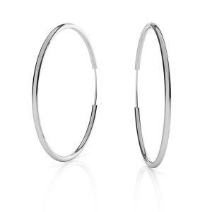 Náušnice hruhy*stříbro 925*KL-350 1,5x50 mm