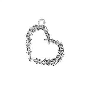 Srdce přívěšek*stříbro 925*ODL-00723 18,6x22 mm