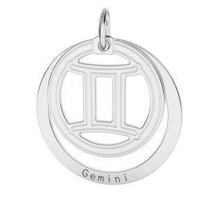 Přívěsek - Blíženci - Znamení zvěrokruhu*stříbro 925*LKM-2585 - 0,50 18x22 mm