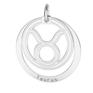 Přívěsek - Býk - Znamení zvěrokruhu*stříbro 925*LKM-2586 - 0,50 18x22 mm