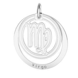 Přívěsek - Panna - Znamení zvěrokruhu*stříbro 925*LKM-2590 - 0,50 18x22 mm