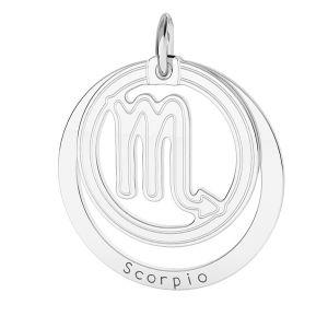 Přívěsek - Štír - Znamení zvěrokruhu*stříbro 925*LKM-2592 - 0,50 18x22 mm