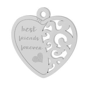 Srdce přívěšek stříbrný, LKM-2043