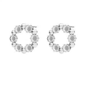Kolo, náušnice, stříbrný 925, ODL-00704 KLS 14,2 mm (1088 PP 18)