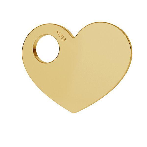Srdce přívěsek zlato 8K LKZ8K-30006 - 0,30 9,4x12 mm