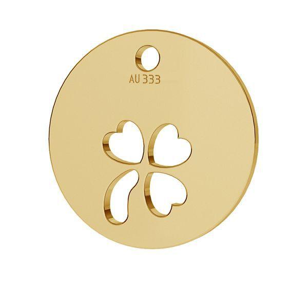 Jetel přívěsek*zlato 333*LKZ8K-30009 - 0,30 9,5x9,5 mm