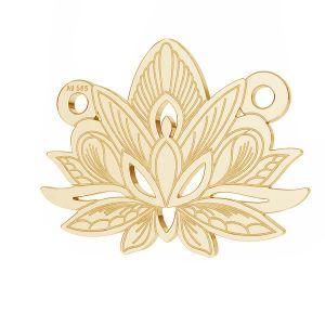 Lotus květ přívěsek*zlato 585*LKZ14K-50050 - 0,30 12,3x15,8 mm