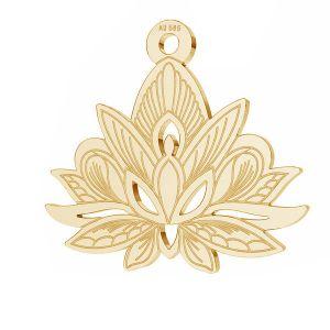 Lotus květ přívěsek*zlato 585*LKZ14K-50049 - 0,30 14,4x15,8 mm
