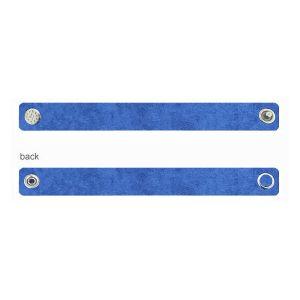Alcantara báze na náramky - modrý, ALC 02 1,2x20 cm