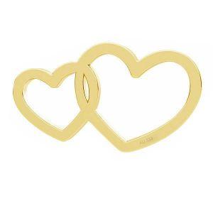 Dvojité srdce přívěsek*zlato 333*LKZ8K-30030 - 0,30 6x10,5 mm