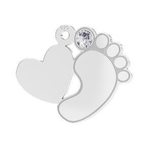 Dětské nohy přívěšek*stříbrný 925*LKM-2646 - 0,50 13,2x16,5 mm