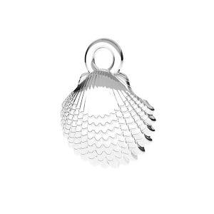 Přívěsek skořápky*stříbro 925*ODL-00752 8,5x11 mm