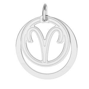 Přívěsek - Beran - Znamení zvěrokruhu*stříbro 925*LKM-2584 - 0,50 18x22 mm